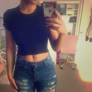 Ribbed Zara crop top